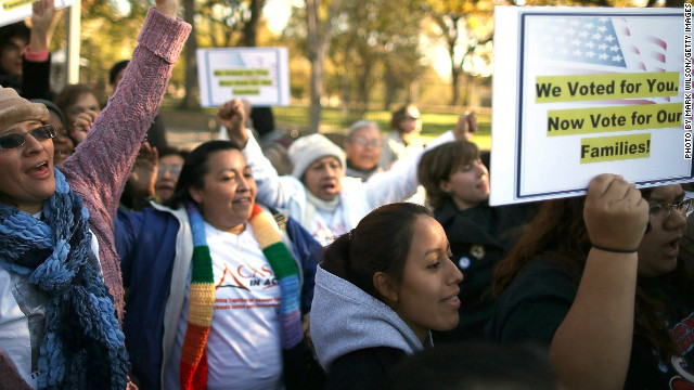 At a rally outside the White House last November, immigrant rights organizations called for comprehensive immigration reform,
