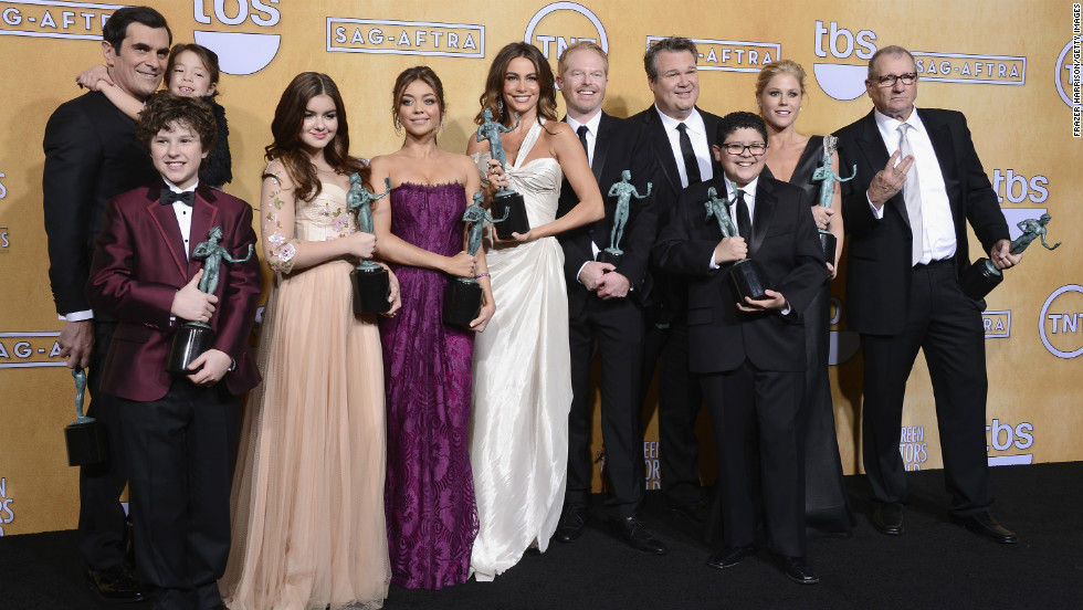 "The cast of ""Modern Family"": Outstanding performance by an ensemble in a comedy series for ""Modern Family."""