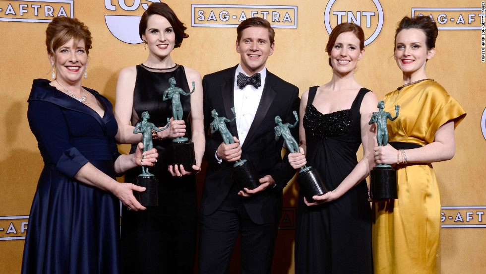 "The cast of ""Downton Abbey"": Outstanding performance by an ensemble in a drama series for ""Downton Abbey,"" season two."