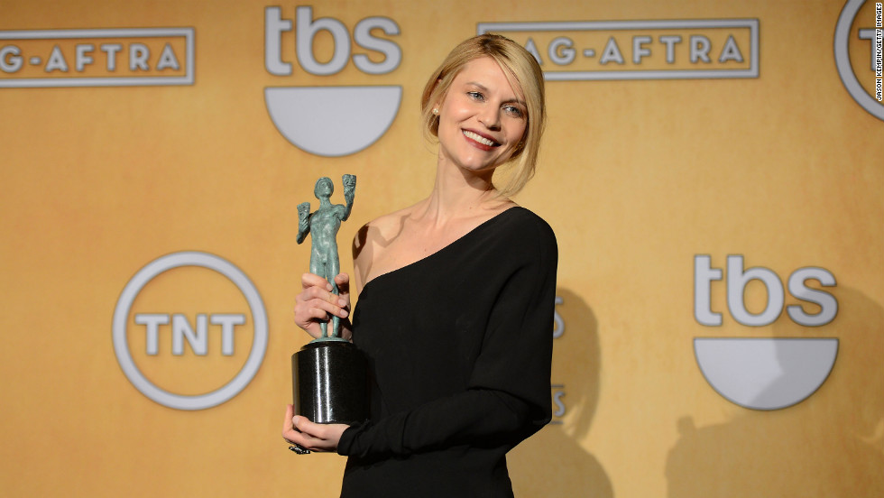 "Claire Danes: Outstanding performance by a female actor in a drama series for ""Homeland."""