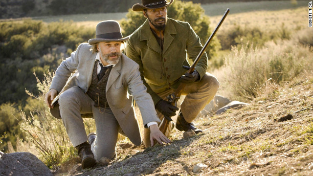 Waltz, left, helps free Foxx from slavery, and the two team up to save the latter's wife in the Quentin Tarantino film.