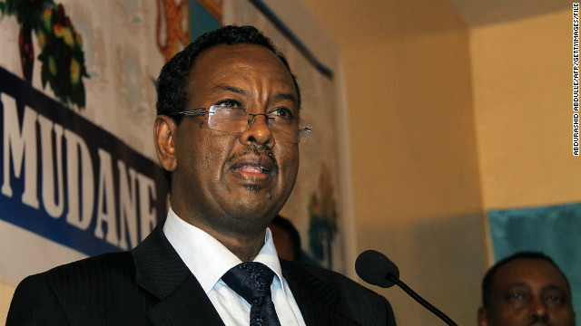 (File) Somalia's newly appointed PM, Abdi Farah Shirdon Said gives a speech on October 06, 2012, in Mogadishu.