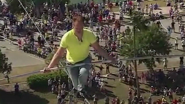 Wallenda sky walks over Florida highway