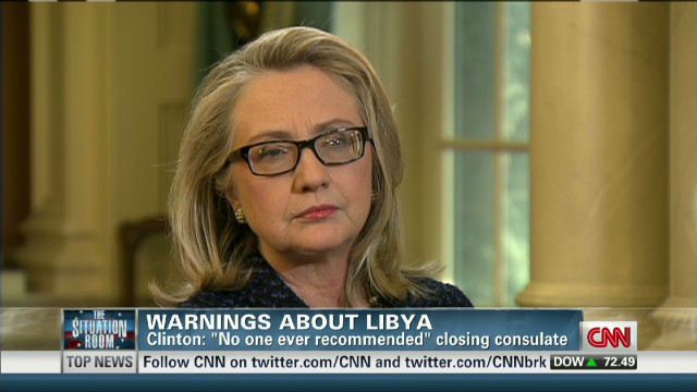 Clinton on warnings about Libya