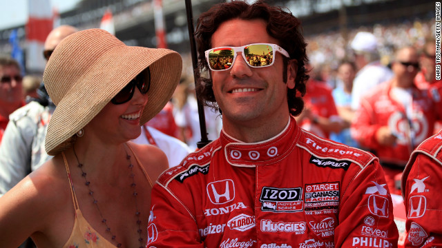 Dario Franchitti and Ashley Judd await the start of the 96th Indianapolis 500 on May 27, 2012. Franchitti won the race.