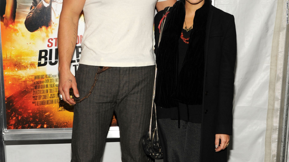 "Jason Momoa and Zoe Kravitz arrive at the ""Bullet To The Head"" premiere in New York City."