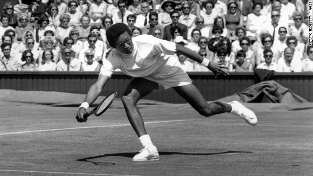 Arthur Ashe was the first black man to win the U.S. Open and Wimbledon.