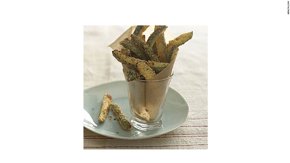"Eat 11 of these crispy veggies for only 181 calories, plus you'll get a boost of vitamin C. <strong>Try this recipe:</strong> <a href=""http://www.health.com/health/recipe/0,,10000001831902,00.html"" target=""_blank"">Zucchini Fries</a>"