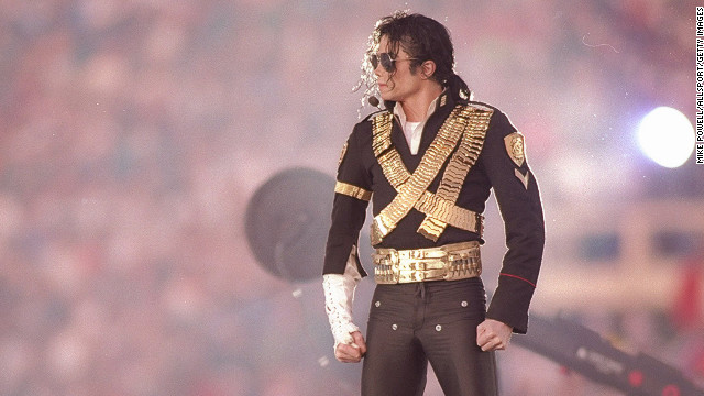 Michael Jackson performs during halftime at Super Bowl XXVII between the Dallas Cowboys and the Buffalo Bills at the Rose Bowl in Pasadena, California. The Cowboys won the game, 52-17. Mandatory Credit: Mike Powell /Allsport