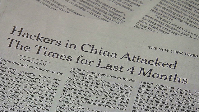 China denies NY Times hack attack