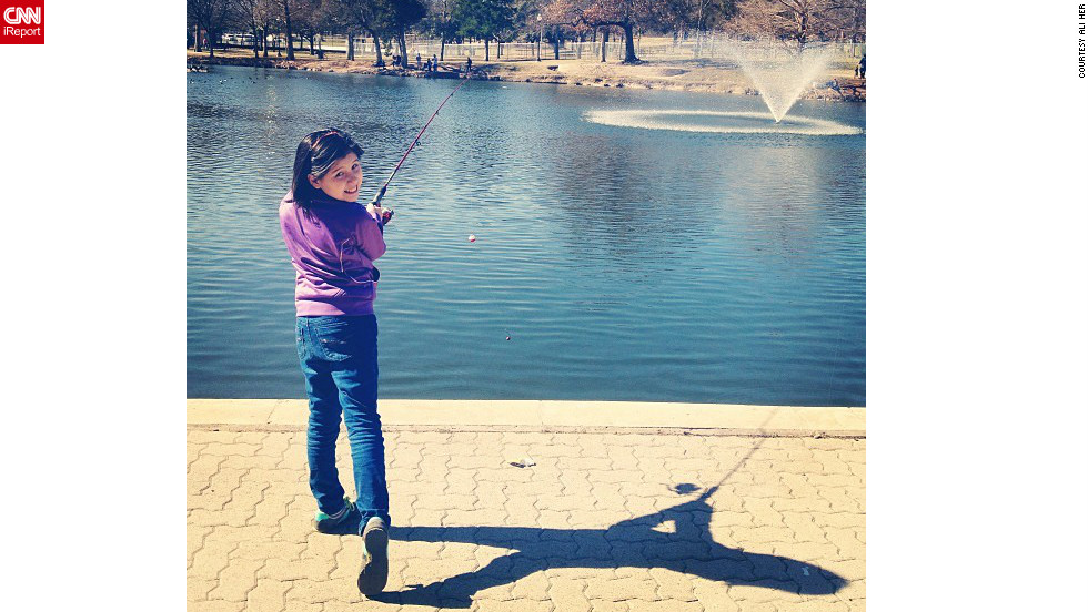 "<a href=""http://ireport.cnn.com/docs/DOC-919458"" target=""_blank"">Ali Her</a> of Dallas posted this photograph while fishing at Kidd Springs Park on Groundhog Day. She's predicting an early spring."