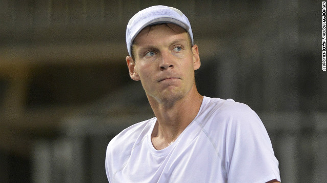 Tomas Berdych of the Czech Republic was one of four players who made Davis Cup history on Saturday.