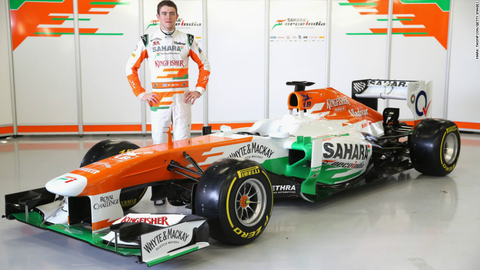 Force India's Paul Di Resta with the new VJM06 which was launched on February 1 at Silverstone. His new teammate had yet to be named.