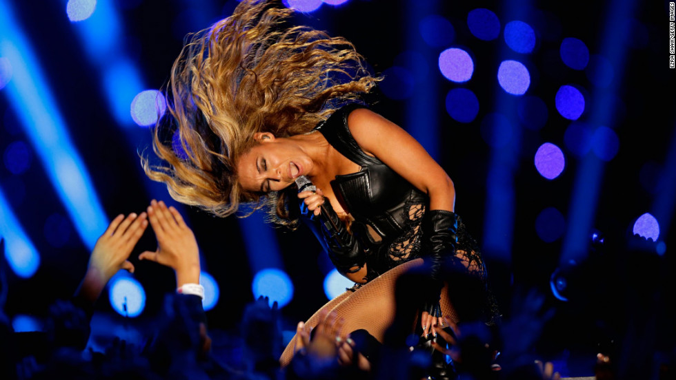 Beyonce turned in an energetic performance.