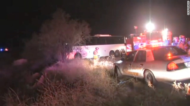 Multiple people have been killed in a tour bus rollover crash in San Bernardino, California, on Sunday.