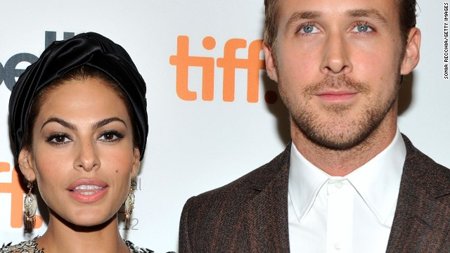 Eva Mendes and Ryan Gosling attend 'The Place Beyond The Pines' premiere in 2012.