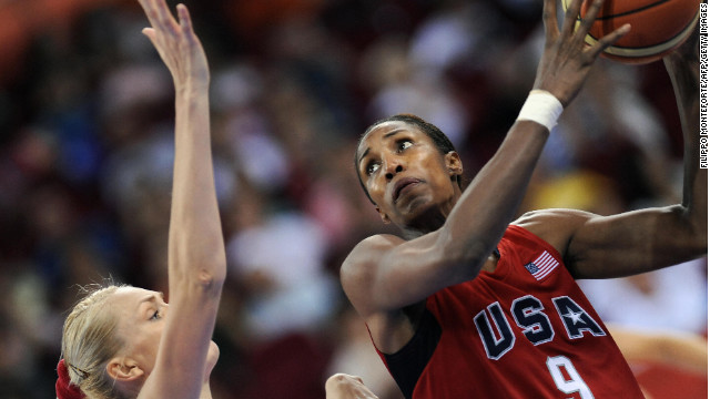 Lisa Leslie goes up for a shot at the Beijing Olympics in 2008. Today,  Leslie is co-owner of the WNBA's L.A. Sparks.
