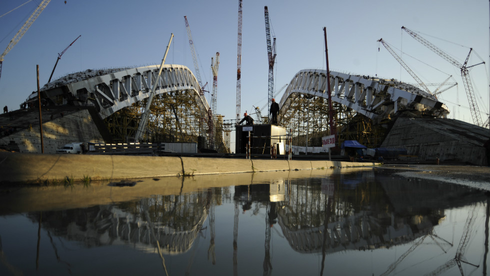 With a year to go before the 2014 Winter Olympics in Sochi, the Russian organizers are seeking to complete one of the world's largest construction projects.
