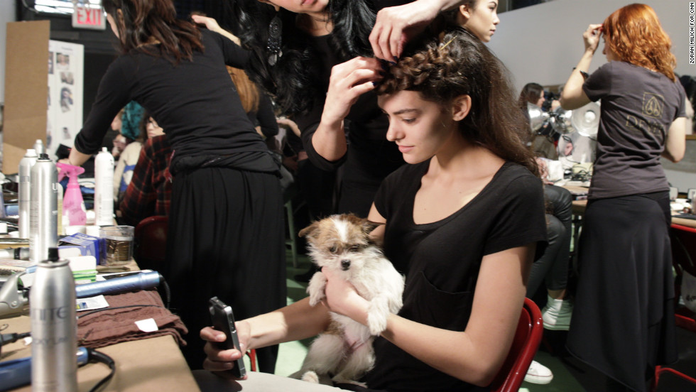 Animal-free hair and makeup products were used on the models backstage.
