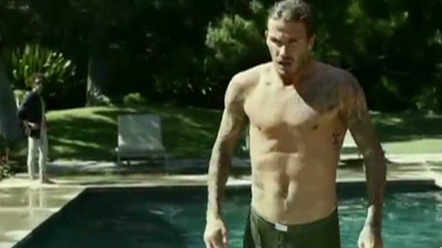 David Beckham shows off undies in new ad