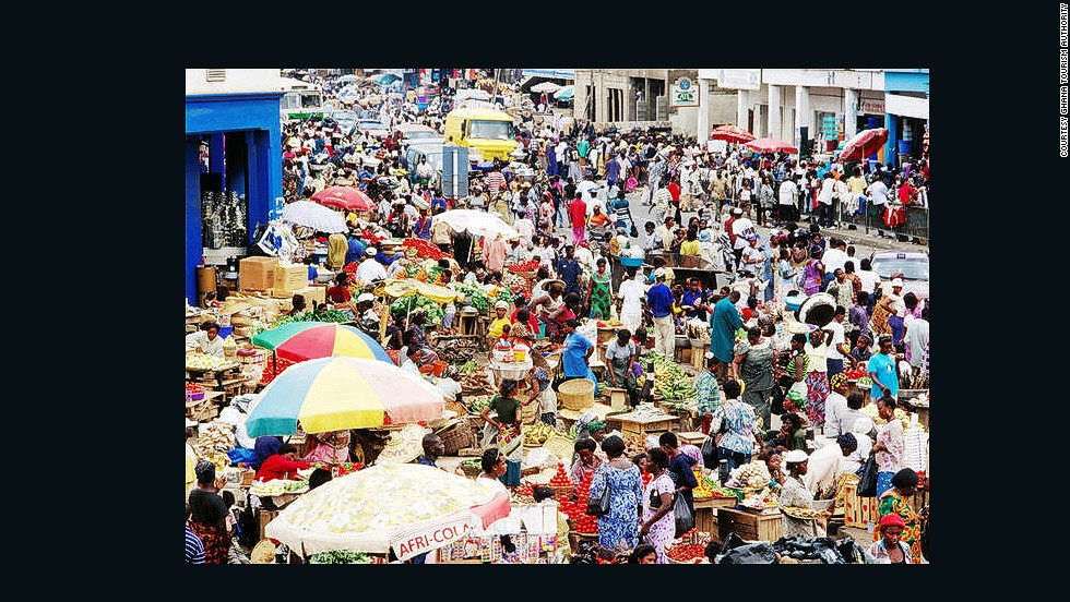 As this scene from Makola Market in Accra shows, Ghana has a vibrant economic spirit. The West African nation was ranked seventh in the prosperity rankings and was considered the second safest nation on the continent.