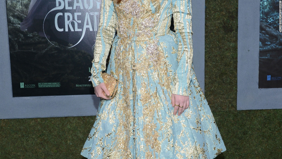 "Alice Englert attends the premiere of ""Beautiful Creatures"" in Hollywood."
