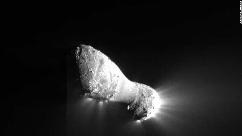 This close-up view of Comet Hartley 2 was taken by NASA's EPOXI mission during a fly-by of the comet on November 4, 2010.