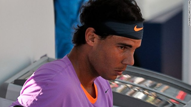 Rafael Nadal was left frustrated by the Spanish weather as his third round match in Barcelona was postponed until Friday.