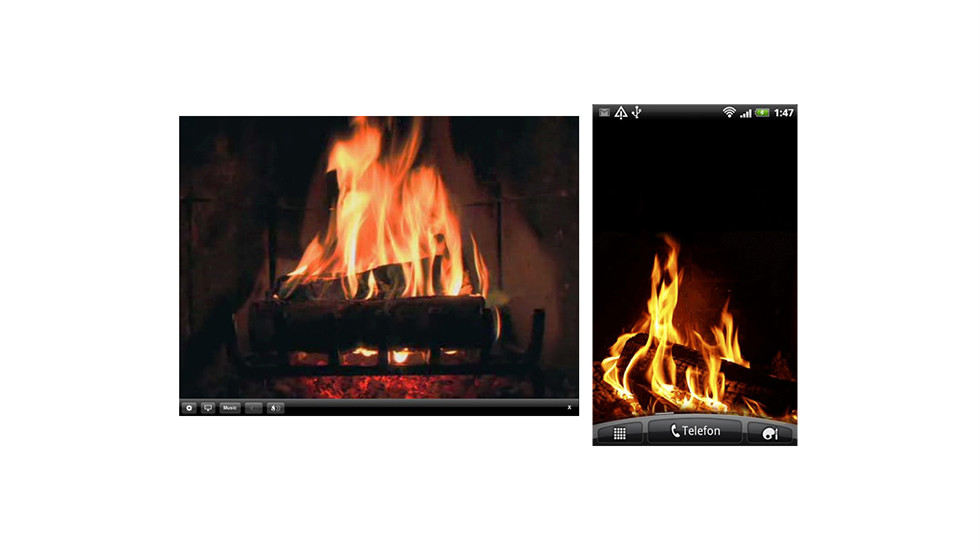 "Don't just stay safe and warm, stay cozy. These apps will turn your mobile devices into flickering fires. <a href=""https://itunes.apple.com/us/app/fireplace/id290311006?mt=8"" target=""_blank"">FirePlace</a> is a $.99 app for the iPhone or iPad, and the free <a href=""https://play.google.com/store/apps/details?id=com.yukka.livewallpaper.fireplace&hl=en"" target=""_blank"">Fireplace Live Wallpaper</a> works in the background on Android devices."
