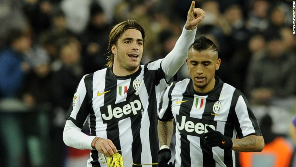 Alessandro Matri helped Juventus move five points clear in Italy's Serie A, scoring the second goal in the 2-0 win at home to Fiorentina despite losing his boot before firing into the net.