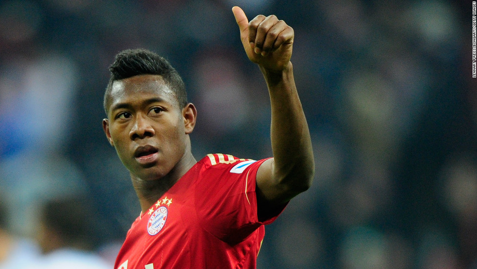David Alaba helped Bayern Munich move 15 points clear in Germany's Bundesliga, with the 20-year-old Austrian scoring twice in the 4-0 win at home to Schalke.