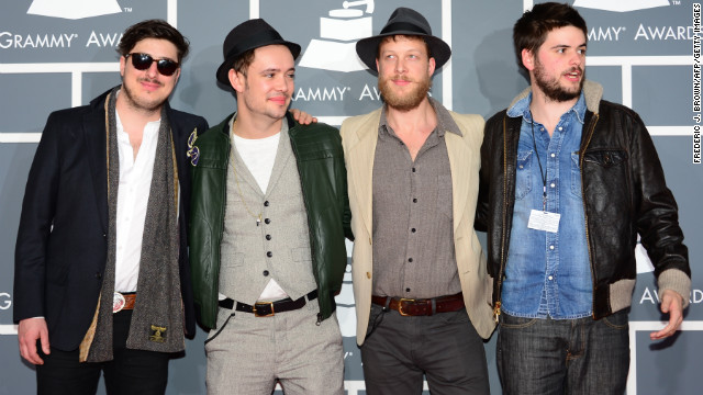 Mumford & Sons bassist Ted Dwane, third from left, had treatment for a blood clot this week.