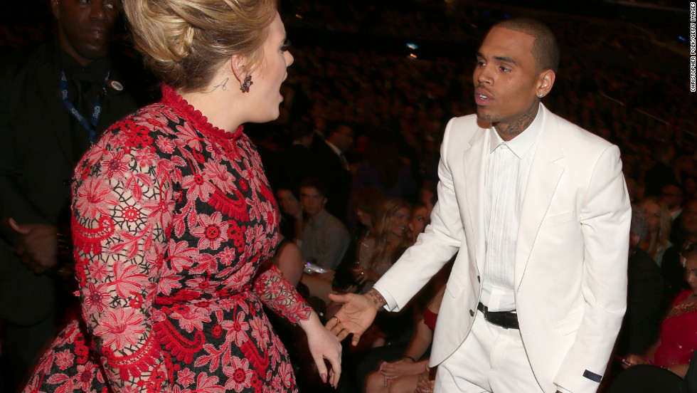 "Chris Brown to Adele: ""Your song 'Someone Like You' really speaks to me."""
