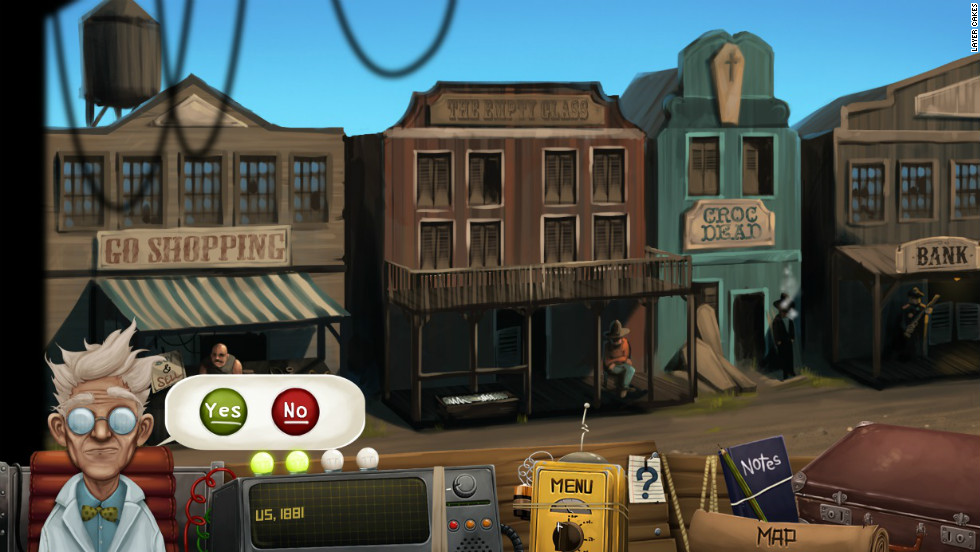 The game takes users through a cartoonish version of the past,  but still trains them to avoid real-world, modern-day dangers.