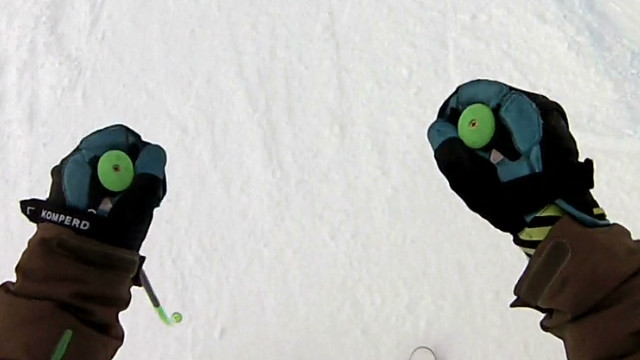 See skier's downhill (careful at 1:21!)