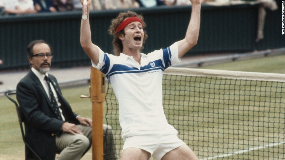 """Wimbledon final in 1981 when I finally beat Bjorg."" McEnroe defeated the Swede 4-6 7-6 7-6 6-4 to win at the home of tennis for the first of three times, his personal career highlight."