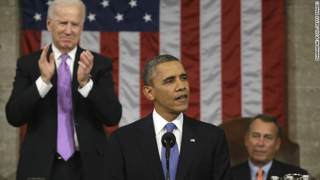President Barack Obama delivers his 2013 State of the Union address.