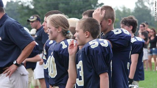 Caroline is fighting for all girls wanting to play football, her coaches and family members say.