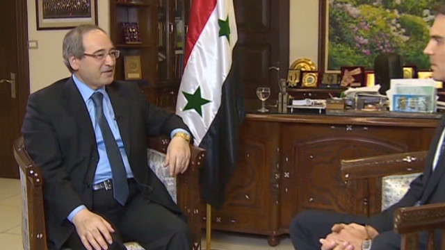 Syrian official sits down with CNN