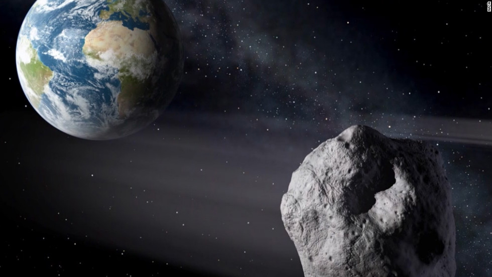 Asteroid 2012 DA14 made a record-close pass -- 17,100 miles -- by Earth on February 15, 2013. Most asteroids are made of rocks, but some are metal. They orbit mostly between Jupiter and Mars in the main asteroid belt. Scientists estimate there are tens of thousands of asteroids and when they get close to our planet, they are called near-Earth objects.