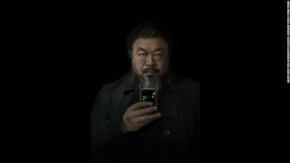 <strong>Second prize people -- staged portraits single:</strong> Ai Weiwei, the well-known artist and critic of the Chinese government, appears in a February 6, 2012, portrait in Beijing.