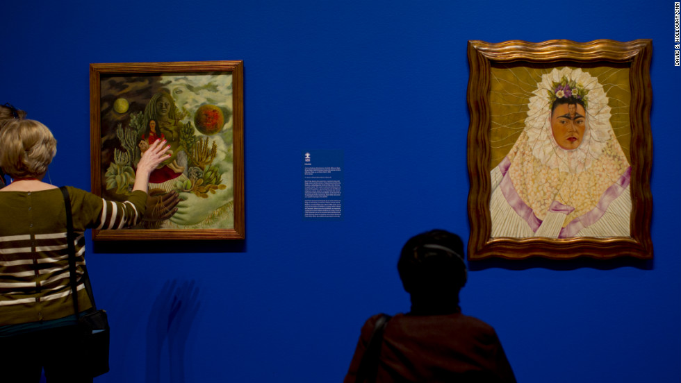 "Kahlo is best known for her self-portraits, which reflected her mixed European and indigenous heritage along with Mexico's cultural traditions through references to folk art, traditional jewelry and indigenous clothing, <a href=""http://www.high.org/Frida-Diego"" target=""_blank"">the museum's program notes</a>. Still, as a card-carrying Communist for most of her adult life, she was hardly traditional in her social or religious mores. In ""Self-Portrait as a Tehuana (Diego In My Thoughts),"" she depicts herself in traditional Tehuana attire in an act of solidarity with the Zapotec women from the Isthmus of Tehuantepec near the Mexican state of Oaxaca. In post-revolutionary years, ""upper-middle-class women in Mexico City adopted the traditional attire of the Tehuanas to denote overt sexuality in the face of conservative social mores of demure femininity,"" the program notes."