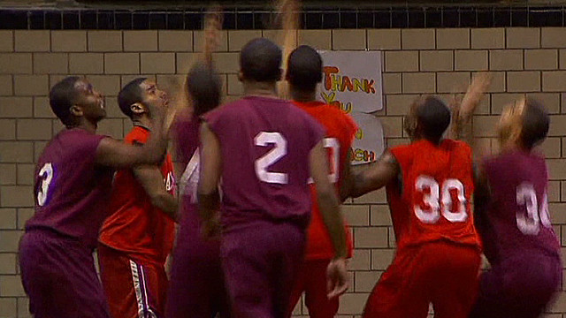 Gang members face off on the court