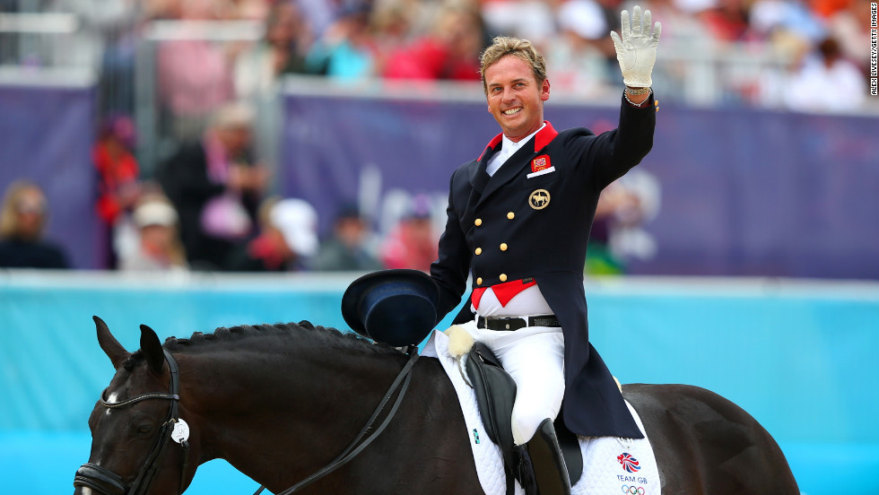 Openly gay British dressage rider Carl Hester helped his team win gold at the 2012 Olympics.