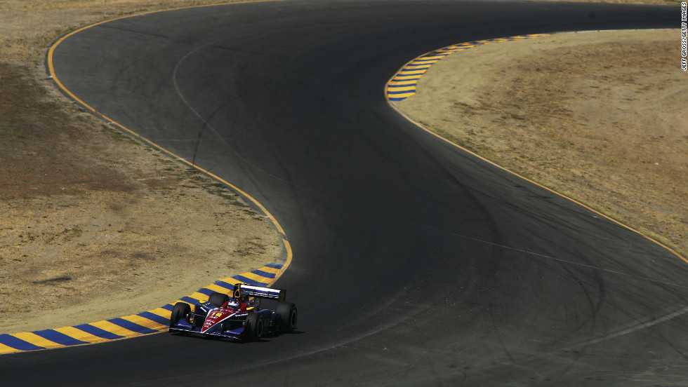 Patrick drives during practice for the Argent Mortgage Indy Grand Prix in 2005 in Sonoma, California.