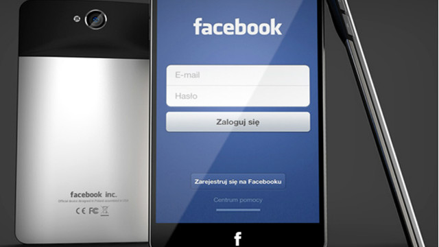 This illustration shows what designer Michal Bonikowski thinks a Facebook phone should look like.