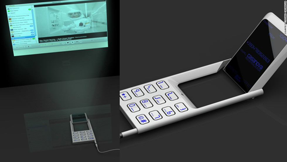 This mobile phone-cum-projector by Italian designer Stefano Casanova has a rotatable screen with a micro-light projector that allows users to view their display on any flat surface.