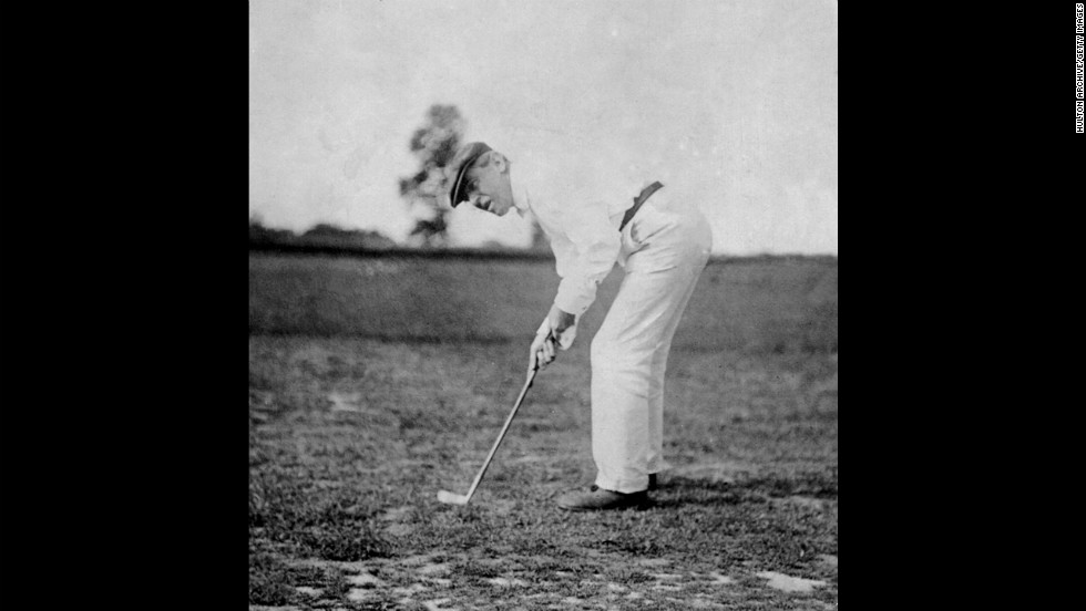President Woodrow Wilson plays a round of golf in 1916. He played more golf than any other president, reportedly logging more than 1,000 rounds in his two terms.