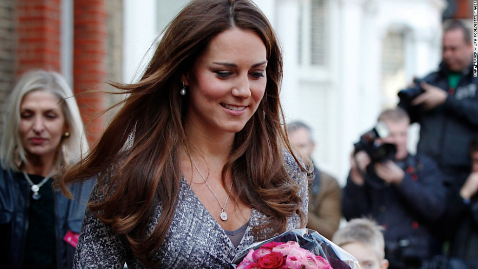 Catherine, Duchess of Cambridge steps out in London.