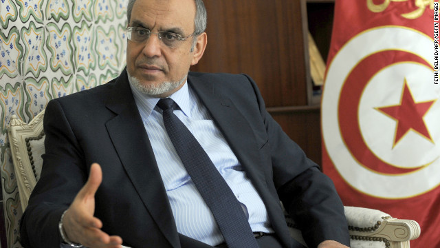 Tunisian Prime Minister Hamadi Jebali meets with members of his cabinet on Tuesday.